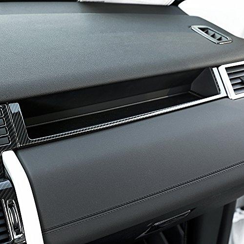Fibre de carbone Style Plastique ABS Cadre de décoration Co-pilote Trim pour Discovery Sport Accessoires Auto