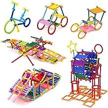 SUPER TOY Building Block Sticks Educational Toy for Kids - 98 Pcs