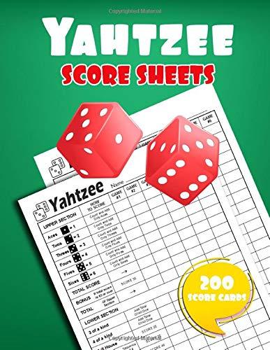 Yahtzee Score Sheets: 200 Yahtzee Game Record Score Keeper Book |Yahtzee Score Pads | Yatzee Score Cards | Yahtzee score book