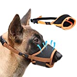 Homkeen Dog Muzzle, Soft Dog Muzzle Prevent for Biting Barking and Chewing