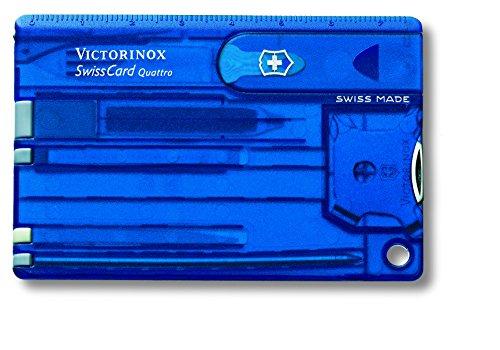 Victorinox Taschenwerkzeug SwissCard QUATTRO Saphir transparent, 0.7222.T2
