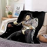 Manta Rey De La Danza Negra 3D Manta Sofa 150x200cm Mantas para Sofá Reversible de Sherpa - 100% Microfibra Extra Suave, Manta de sofá, de Cama o de Sala de Estar