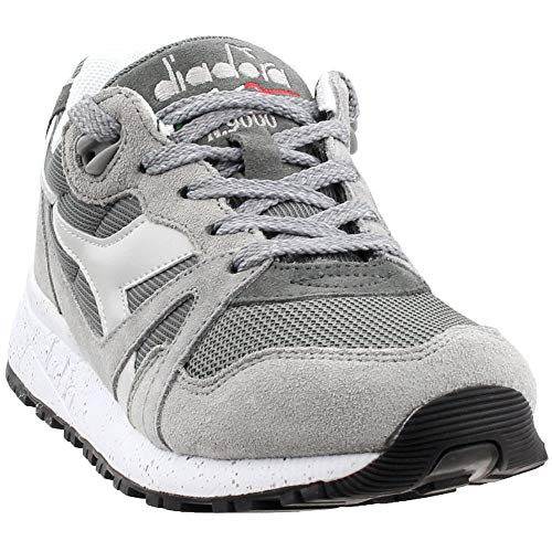 Diadora Mens N9000 Speckled Casual Sneakers, Grey, 8.5