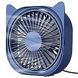 VASG USB Desk Fan, Portable Mini Desk Fan 3 Speeds 360° Rotation USB Fan for Home and Office Laptop Notebook PC Desk Table Fan
