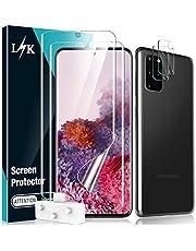 L🌻K 4-pack skärmskydd för Samsung Galaxy S20 Plus med 2-pack TPU skärmskyddsfilm och 2-pack kameralinsskydd – bubbelfritt ultraljudsfingeravtryck hög definition 6,7 tum