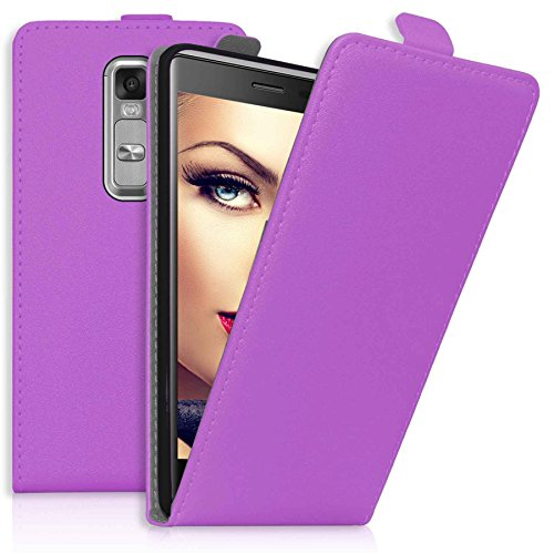 mtb more energy® Flip-Hülle Tasche für LG Class/LG Zero (H650, 5.0'') - Lila - Kunstleder - Schutz-Tasche Cover Hülle