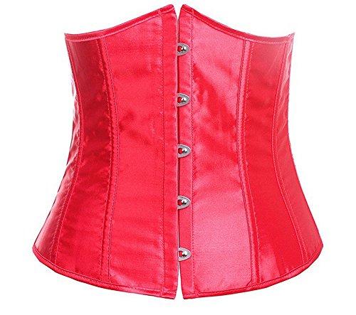 hoverwings Bustino Corsetto Donna/Sexy corsetto interno nudi/Corsetto da sposa/Corsetto Serra dimensioni S-6X L, rosso, 4XL