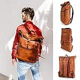 Berliner Bags Rucksack Utrecht XL Kurierrucksack mit Laptopfach aus Leder Fahrradrucksack Trekkingrucksack Damen Herren - 7