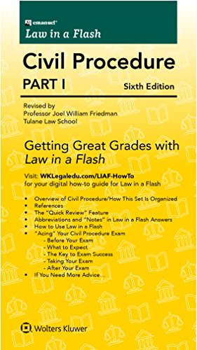 Compare Textbook Prices for Emanuel Law in a Flash for Civil Procedure I 6 Edition ISBN 9781454840961 by Joel Wm. Friedman