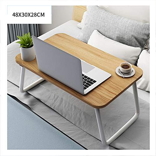 LLEH Mesa de Cama para Ordenador portátil, Mesa Plegable para computadora portátil, Escritorio de Cama de pie portátil, Bandeja de Cama para Servir el Desayuno, Soporte para Lectura,Walnut