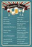 Schatzmix Betrunken-Deutsch Getränkekarte Bar Metallschild Wanddeko 20x30 tin Sign Blechschild,...