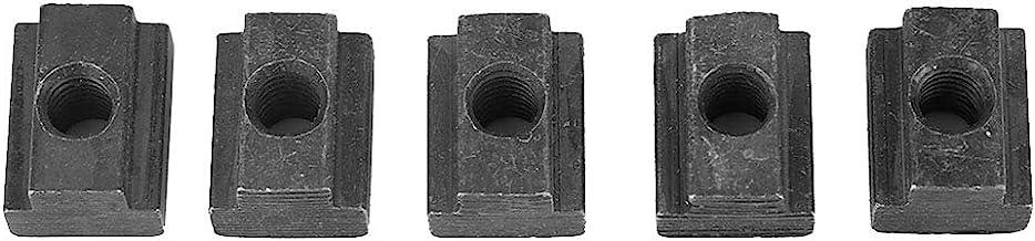 Domilay 30Pcs Plata Eu Standard 30 Series Ranura de Aluminio Acero Al Carbono Half Round Roll en Tuerca de Ranura T Deslizante con Rosca M8