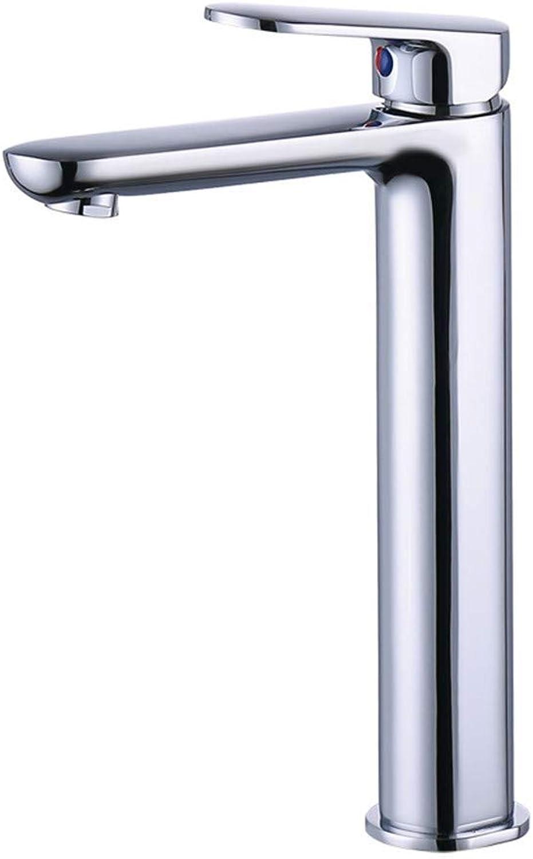 SEBAS HOME Taps Hot And Cold Copper Chrome High Basin Faucet Bathroom Single Handle greenical Basin Faucet