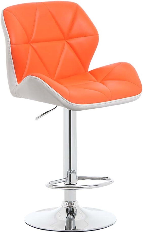 WFFXLL Bar Stool European Lift Chair Bar Stool Bar Stool (color   orange)