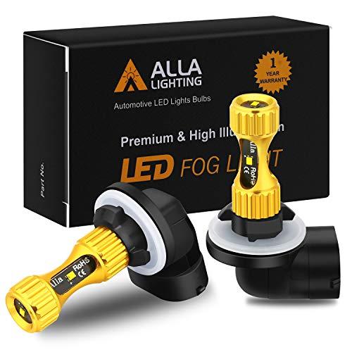 Alla Lighting 889 881 LED Fog Lights Bulbs Newest 3000lm Extreme Super Bright 898L, 6K Xenon White