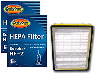 EnviroCare Replacement Vacuum HEPA Filters for Eureka HF-2 Ultra Smart, Boss, Omega, UltraSmart Vac Cyclonic, Whirlwind Uprights 2 Filters