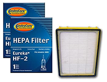 EnviroCare Replacement HEPA Vacuum Cleaner Filter Designed to fit Eureka HF-2 Upright Vacuum Cleaners 2 Filters