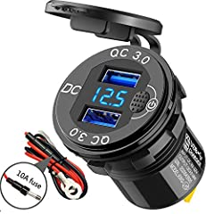 【Upgraded Design】Designed with a push type button, it can turn off the LED voltmeter display when unused. So that it can avoid the voltmeter led light always light up and save battery for you. *Compare to other touch button, push type button ensure m...