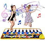 Wiwi Cadeau de Jouet Musical pour Enfants de 3 Ans Jouets éducatifs pour bébés Filles garçons âgés de 1 à 6 Ans Tapis de Piano Tapis de Danse Couverture Musicale Portable avec 19 clés pour 3