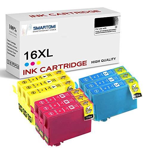 SMARTOMI 16XL 16 XL Kompatible Tintenkartuschen Multi-Pack Epson 16XL 16 XL, für die Nutzung mit Druckern aus der Serie Epson WF-2010W WF-2510WF WF-2520NF WF-2540WF WF-2750DWF WF-2760DWF(9er-Pack)