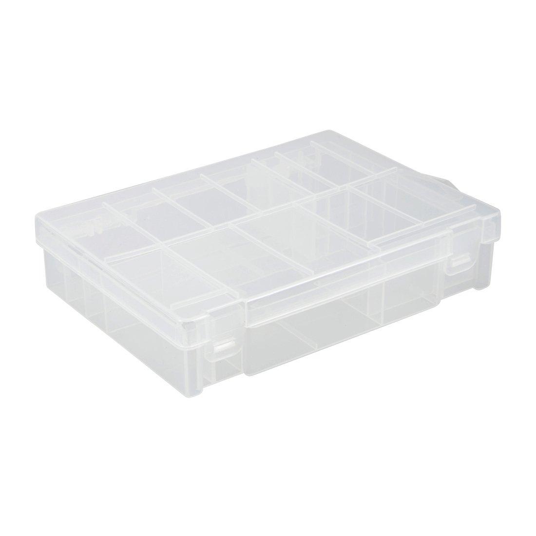 sourcing map Portapilas Compartimentos Estuche de Plástico Transparente Caja de Almacenamiento de Baterías AA/AAA/C/D: Amazon.es: Electrónica