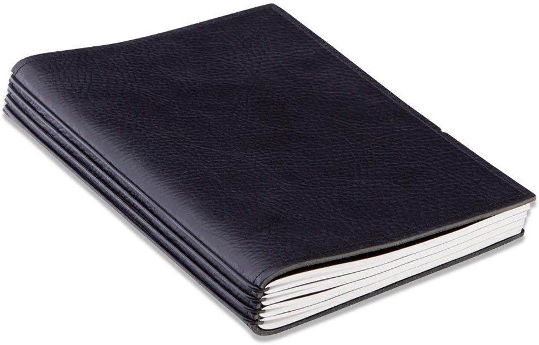 X17- A5 4er Notizbuch Leder Leder Leder Natur schwarz mit Wochenkalender 2019, Made in Germany, echtes, ehrliches, vegetabil gegerbtes Leder, 17 Jahre Garantie auf die Hülle  B07DW4DFKT | Luxus  d881dd
