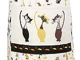 Küchenschürze für Frauen Damen Katzenmotiv Kochschürze Baumwolle mit Taschen zum Kochen, Katze Geschenk für Katzenliebhaber - 6