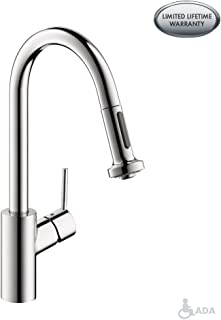 hansgrohe Talis S² Easy Install 1-Handle 16-inch Tall Kitchen Faucet with Pull Down Sprayer Magnetic Docking Spray Head in Chrome, 14877001