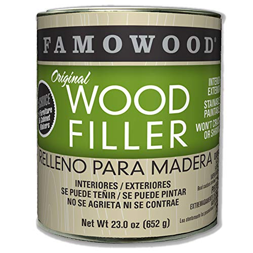 FamoWood 36021100 Original Wood Filler, 1.0 Pint Alder