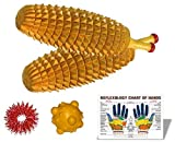 Wooden Ancient Acupressure Spiked Hand Massager Set of 2 Pcs