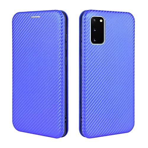 Tapa de la caja de la caja del teléfono Para Samsung Galaxy S20 Lite Case, Fibra de carbono de lujo PU y Funda Híbrida TPU PROTECTORIA CUBIERTA A prueba de choques a prueba de golpes para Samsung Gala