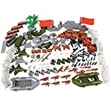 YEIBOBO ! 142pcs Custom Military Army Weapons and Accessories Set for Special Forces Mini Military Action Figure (1601C)