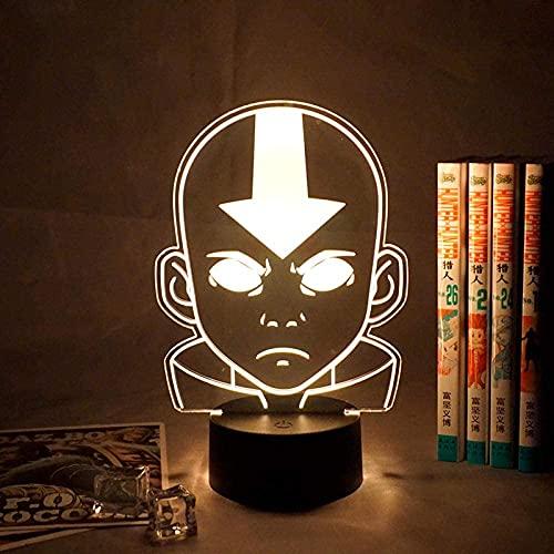 Lámpara de ilusión 3D Luz de noche LED Representante Avatar Último niño Niño Regalo de cumpleaños de Navidad Dormitorio Dormitorio Mesita de noche Decoraciones de escritorio