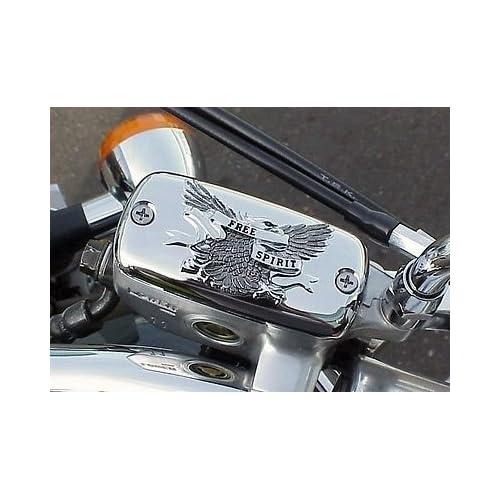 i5 Chrome Eagle Front Brake Fluid Cap for Honda Shadow 600 750 Magna Spirit Phantom Aero