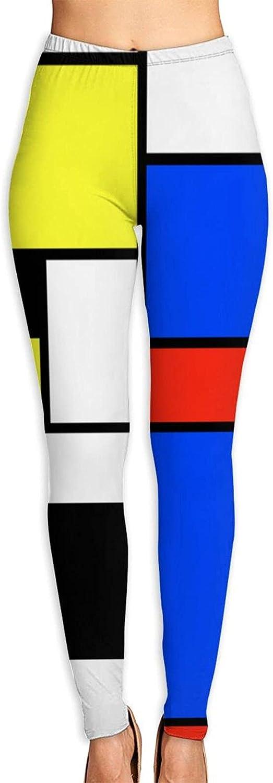 CNFOLDJFONGQ Mondrian Style Women's 3D Digital Print High Wait L