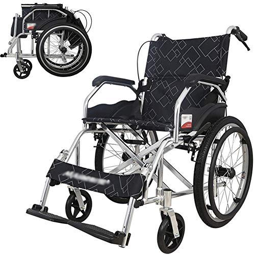 WHEELCHAIR Mobilitätshilfen, Medizinischer Sitz, Rollstuhlgerechtes Hilfsmittel Rollstuhl Zusammenklappbar Leichtgewichtiger Älterer Menschen Mit Behinderung Aufblasbarer, Behinderter Manueller Tragb