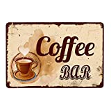 Henriyne Vintage Tin Sign Coffee Bar Metal Sign Man Cave Signfor Men Home Door Decor Art Kitchen Store Ranch Bar 12X8 INCH