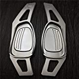 Joyfulstore- Silver & Red Metal Car Steering Wheel Paddle Extension Shifter Cover For Audi A5 S3 S5 S6 Sq5 Rs3 Rs6 Rs7 2015 2016 Sportback (Silver)