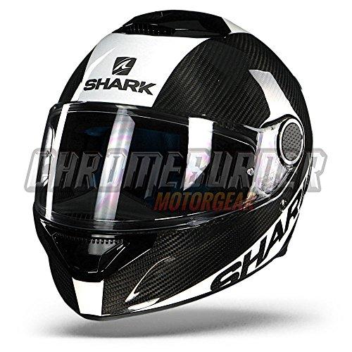 Shark Motorradhelm, Vollvisierhelm, Integralhelm Spartan Carbon weiß XXL, Unisex, Sportler, Ganzjährig