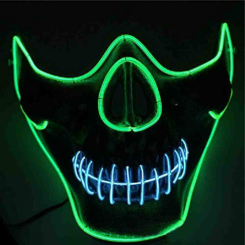 WTNL EL Koud Licht Masker LED Licht Licht Masker met 3 V Steady op Inverter voor Halloween Party Supplies Kerstmis