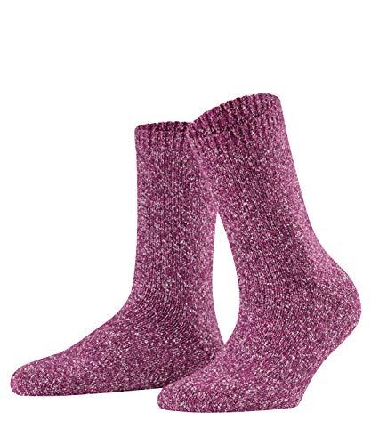 FALKE Damen Socken Melting Pot, Baumwolle/Wollmischung, 1 Paar, Rosa (Berry 8694), Größe: 39-42