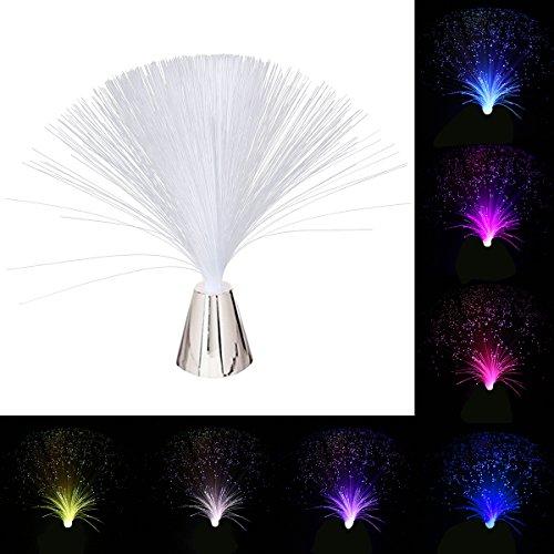 LEDMOMO Lumière de fibre optique changeante de fibre optique de lumière de fibre optique actionnée par batterie
