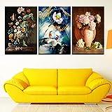 Modulares Bild abstrakte Leinwand Kunst Poster Lotus Pfingstrose Vogel Wandmalerei Wohnkultur...