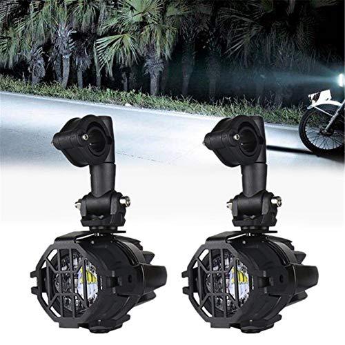 Faros Auxiliares Delanteros de Moto LED,Faros Auxiliares de Moto,Faros Antiniebla Moto Led, para Motos Camión Todoterreno lámparas 12V 24V 40W 3000LM para BMW R1200GS F800GS