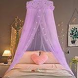 MSU RomantischeHängende Kinder Baby Bettwäsche Kuppel Betthimmel Runde Moskitonetz Bettdecke Vorhang Für Baby Kinder Lesen Spielen Wohnkultur, lila