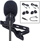 SoLID (TM) Lavalier Lapel Microphone 2 Pack Complete Set Omnidirectional Mic for Desktop PC Computer, Mac, Smartphone, iPhone, GoPro, DSLR, Camcorder for Podcast, YouTube, Vlogging, and DJs