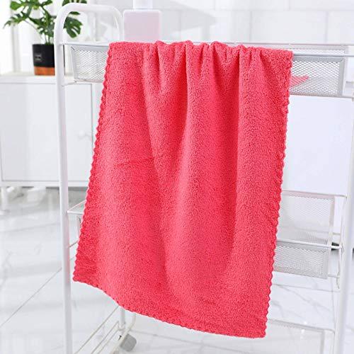 N-B Toalla de lana de coral de alta densidad recortada toalla de lavado cara suave absorbente regalo hogar no se desvanece y no se desprende