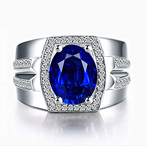IWINO Blue Diamond Ring Myanmar Natursaphirring 18 Karat Gold Set Pop Ring 10 Blau