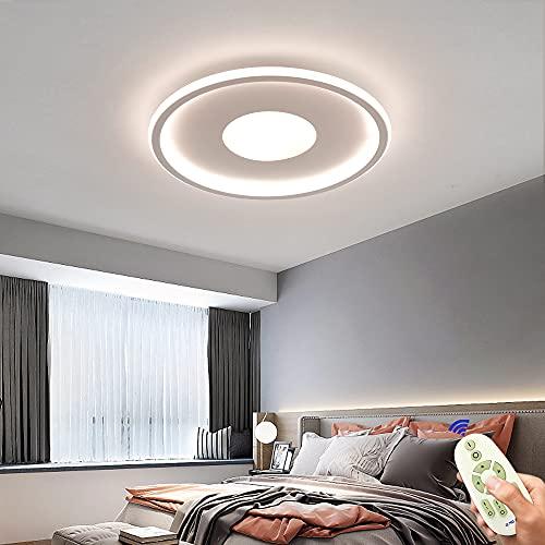 Lámpara de techo LED de 64W,regulable,plana,40cm,color blanco, lámpara de techo ultrafina, con mando a distancia, 3000K-6500K, para dormitorio,habitación de los niños,salón,cocina,creativa,redonda