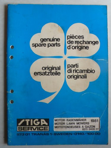 TIGA Motor-Rasenmäher Popular, President, RA-Dino 2T/4T, RB-Dino, Dino EL, BA 20, BB 800, BE 220, TB 300/500, SB 50-502-512, Turbo45 – Ersatzteilliste